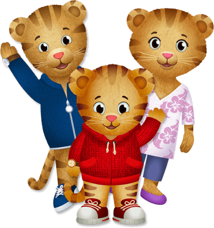 Daniel tiger png. With mum and dad