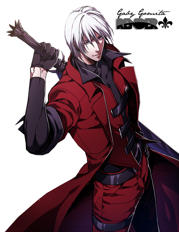Dante devil may cry png. By gabygomita on deviantart