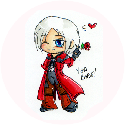 Dante drawing cute. Chibi attack x by