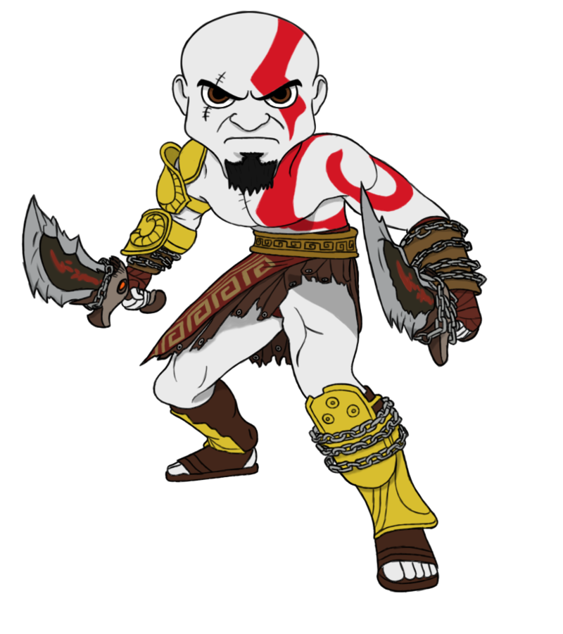 chibis drawing kratos