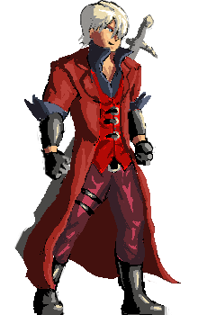 Dante drawing sparda. Sprite by nighteba on