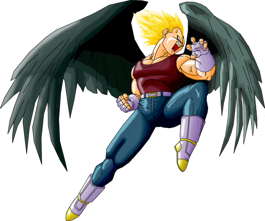 Dark angels wallpaper png. Vegeta angel by guitar
