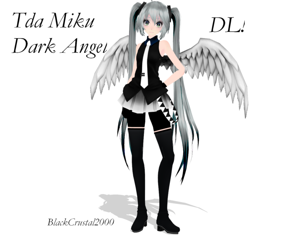 Dark angels wallpaper png. Mmd tda miku angel