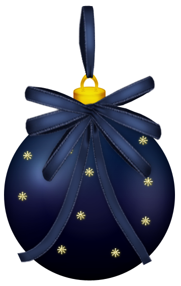 Dark blue ornaments png. Christmas ball clipart picture