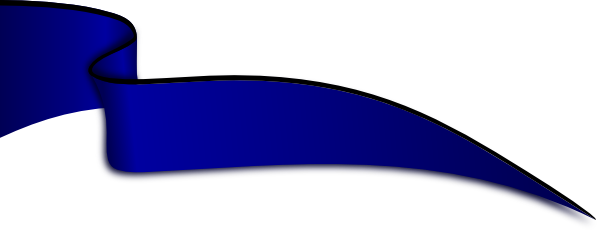 Dark blue png. Ribbon in the wind