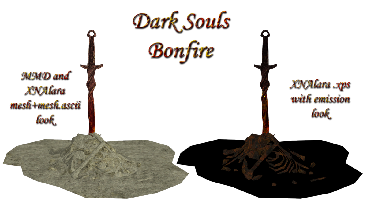 Dark souls bonfire png. Ds xps mmd by
