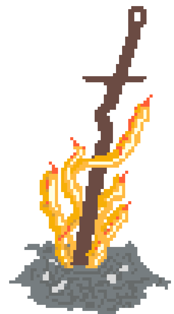 Dark souls bonfire png. Pixel art maker