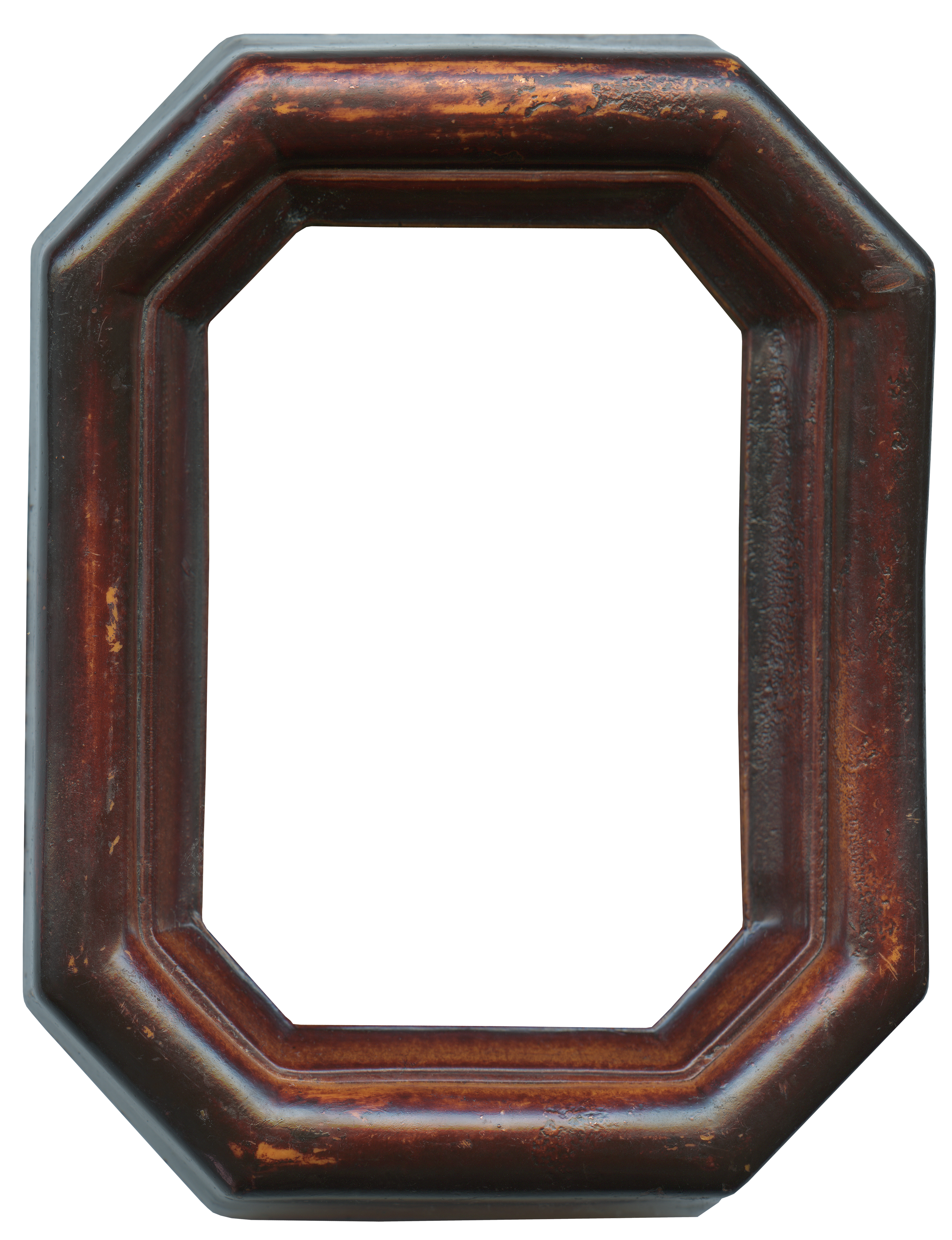 Dark wood frame png. Brown wooden oval picture