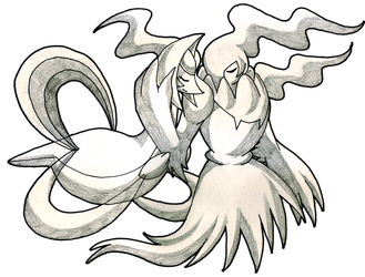 Darkrai drawing black and white. Commission cresselia by starbunnies