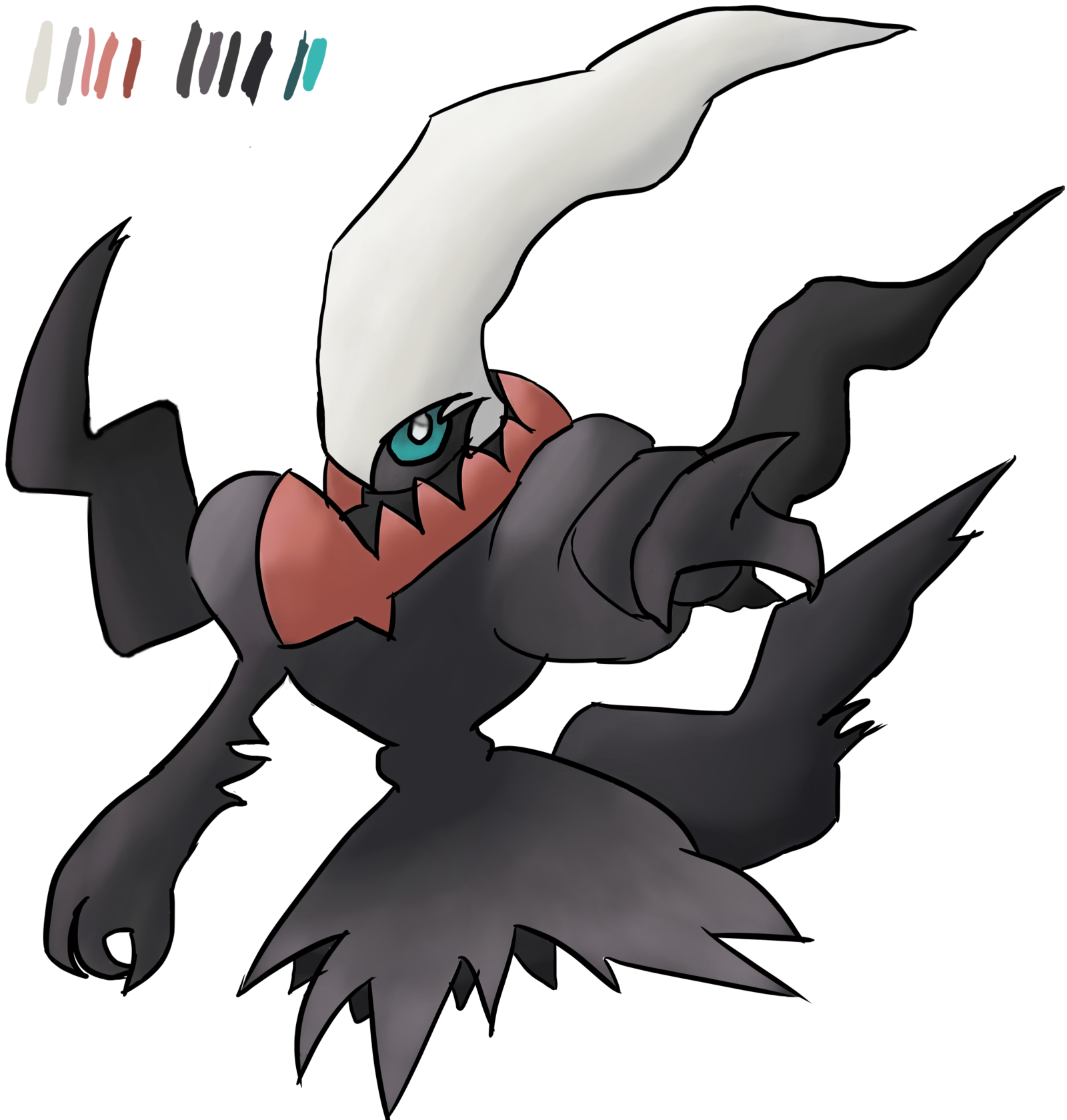 Darkrai drawing character. For masterhawki by fbmstar