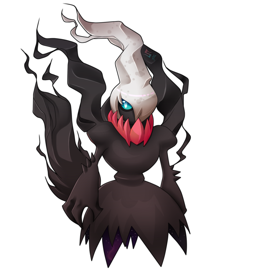 Darkrai drawing colored. Commission full color by
