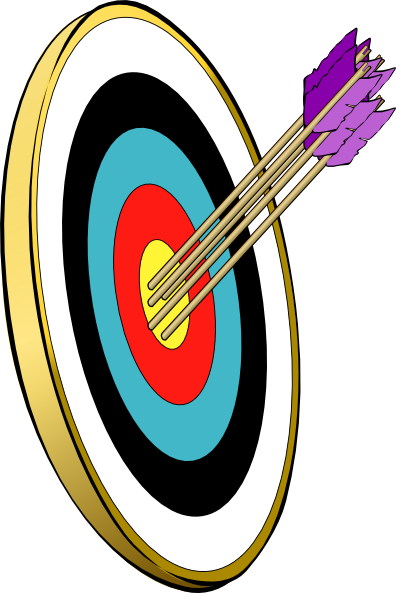 Dart clipart achieved target. Arrows and clip art
