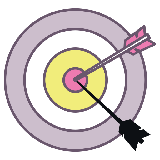 Dart clipart achieved target. Office goal plan achieve