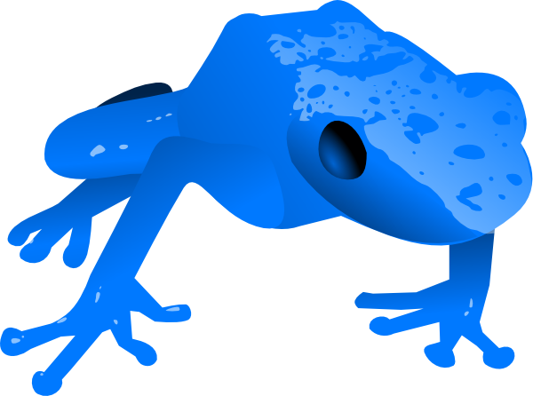 Dart clipart animated. Endangered blue poison frog