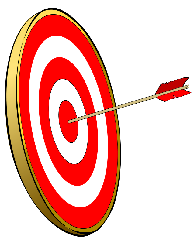 Targeting vector aim. Bullseye clipart