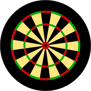 Dart clipart icon. Darts target clip art