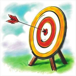Dart clipart kid. Archery illustration pinterest