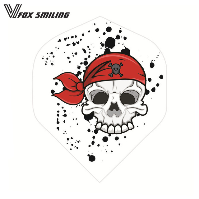 Dart clipart skull. Pcs darts flights