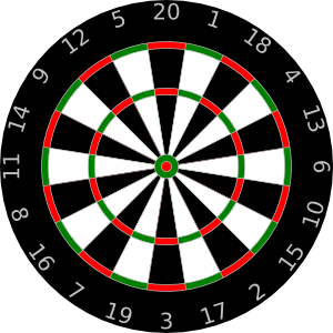 Dart drawing animated. Dartboard clip art at