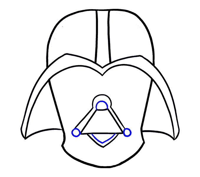Vader drawing line. How to draw darth