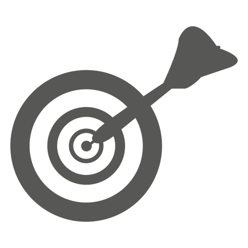 Vector target black and white. Dartboard icon transparent png