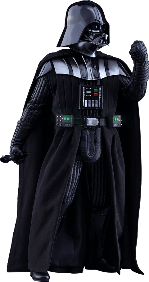 Darth vader clipart. Side view transparent png