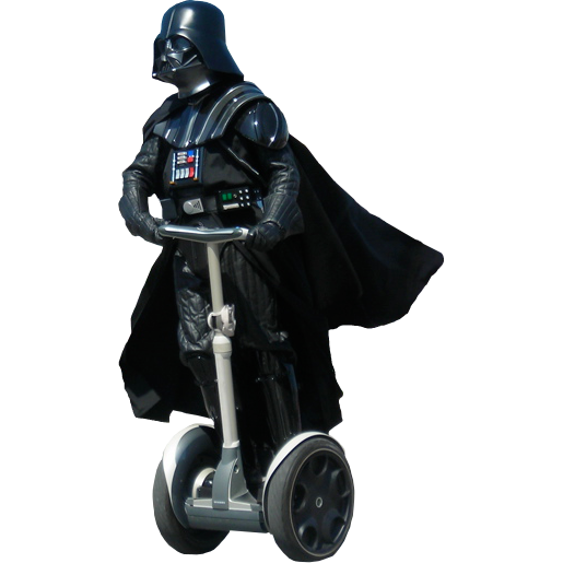 Darth vader clipart. On a segway unexpected