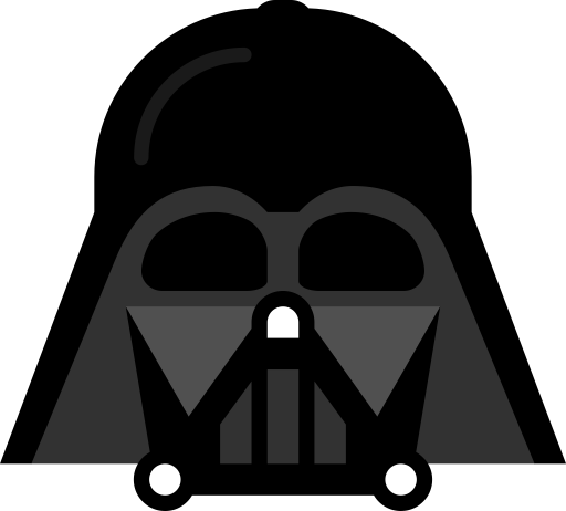 Clip art icon animations. Darth vader clipart black and white download