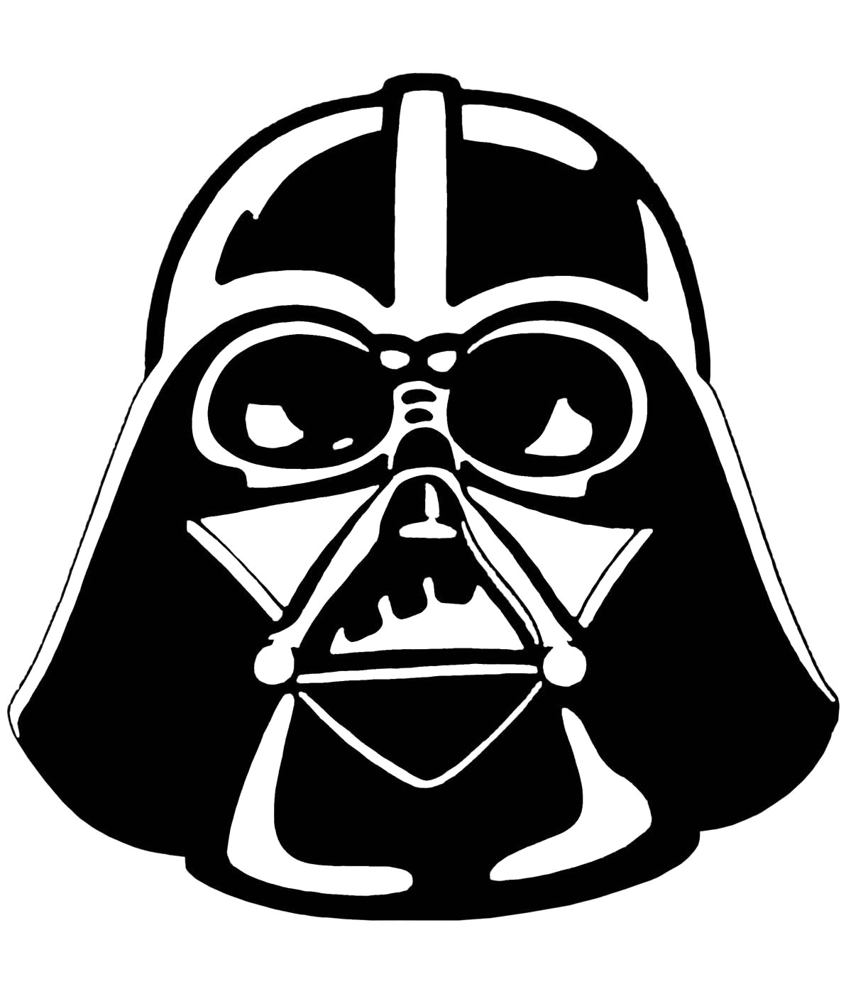 Darth vader clipart clip art. Cool design starwars stencil