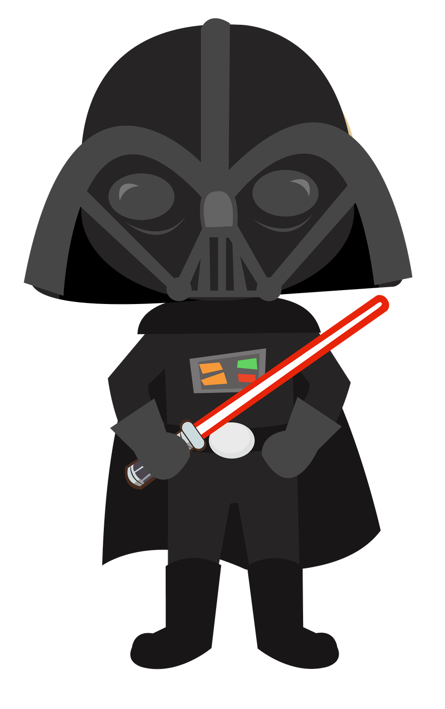 darth vader clipart step by step