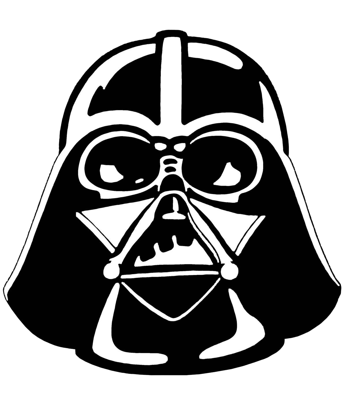 Darth vader clipart. Line drawing at getdrawings