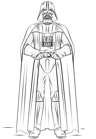 Darth vader clipart printable. Coloring page free pages