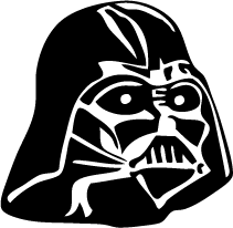 Darth vader clipart silhouette. Mask of