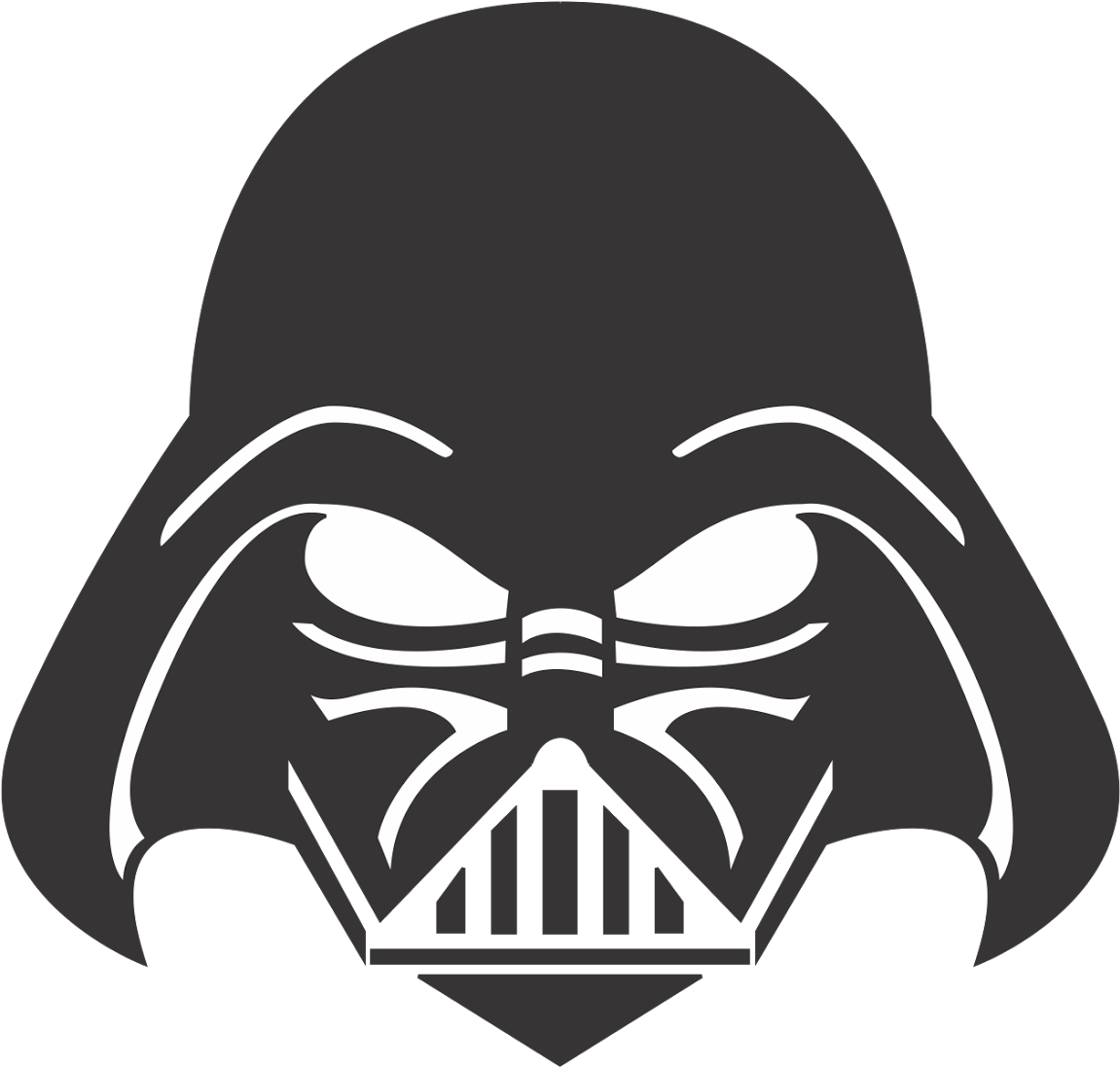 Darth vader clipart silhouette. Download face png transparent
