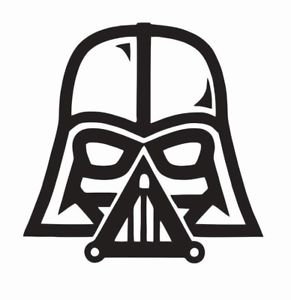 Darth vader clipart step by step. Star wars vinyl die