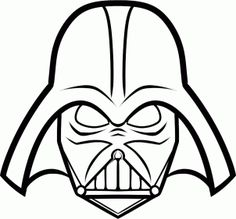 Darth vader clipart step by step. Easy to draw star