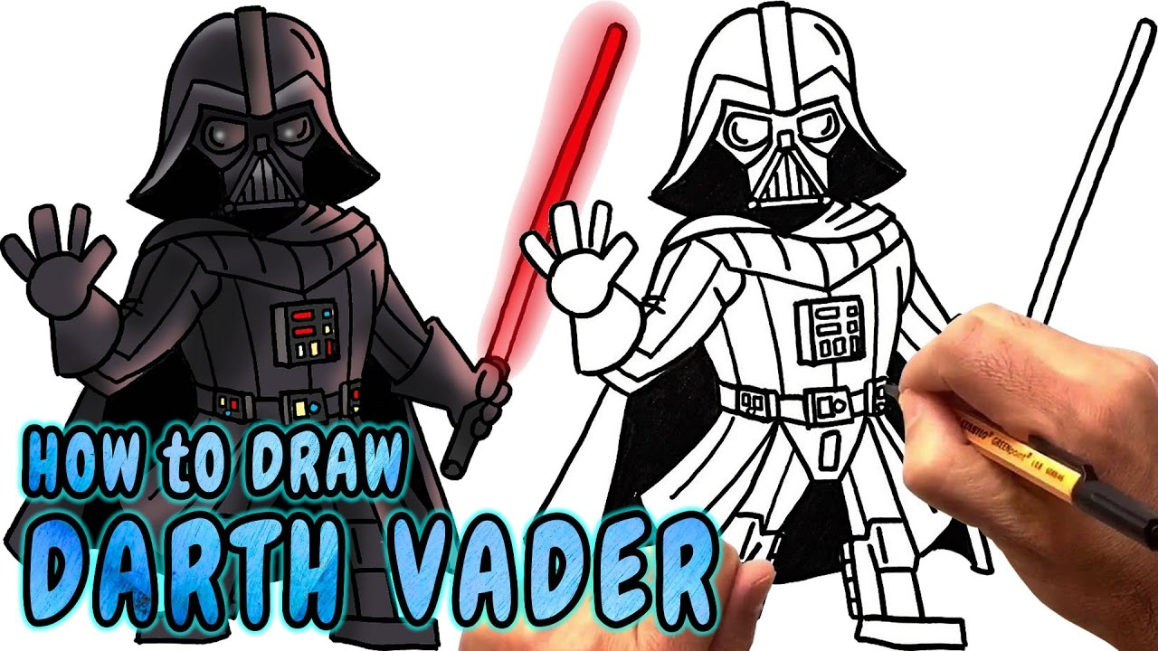 Darth vader clipart step by step. Dark drawing at getdrawings