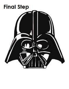 Stencil free download pinterest. Darth vader clipart step by step free