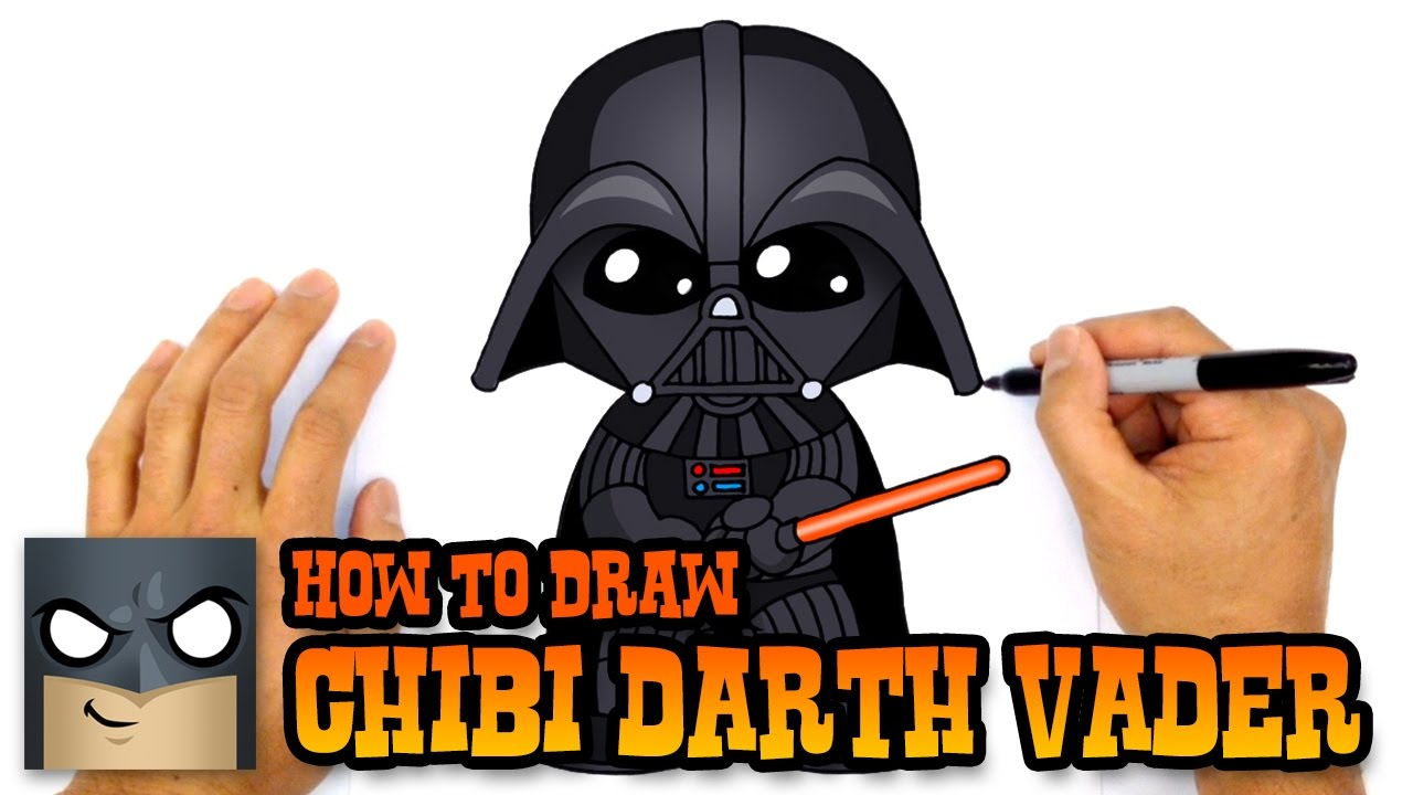 Darth vader clipart step by step. How to draw star