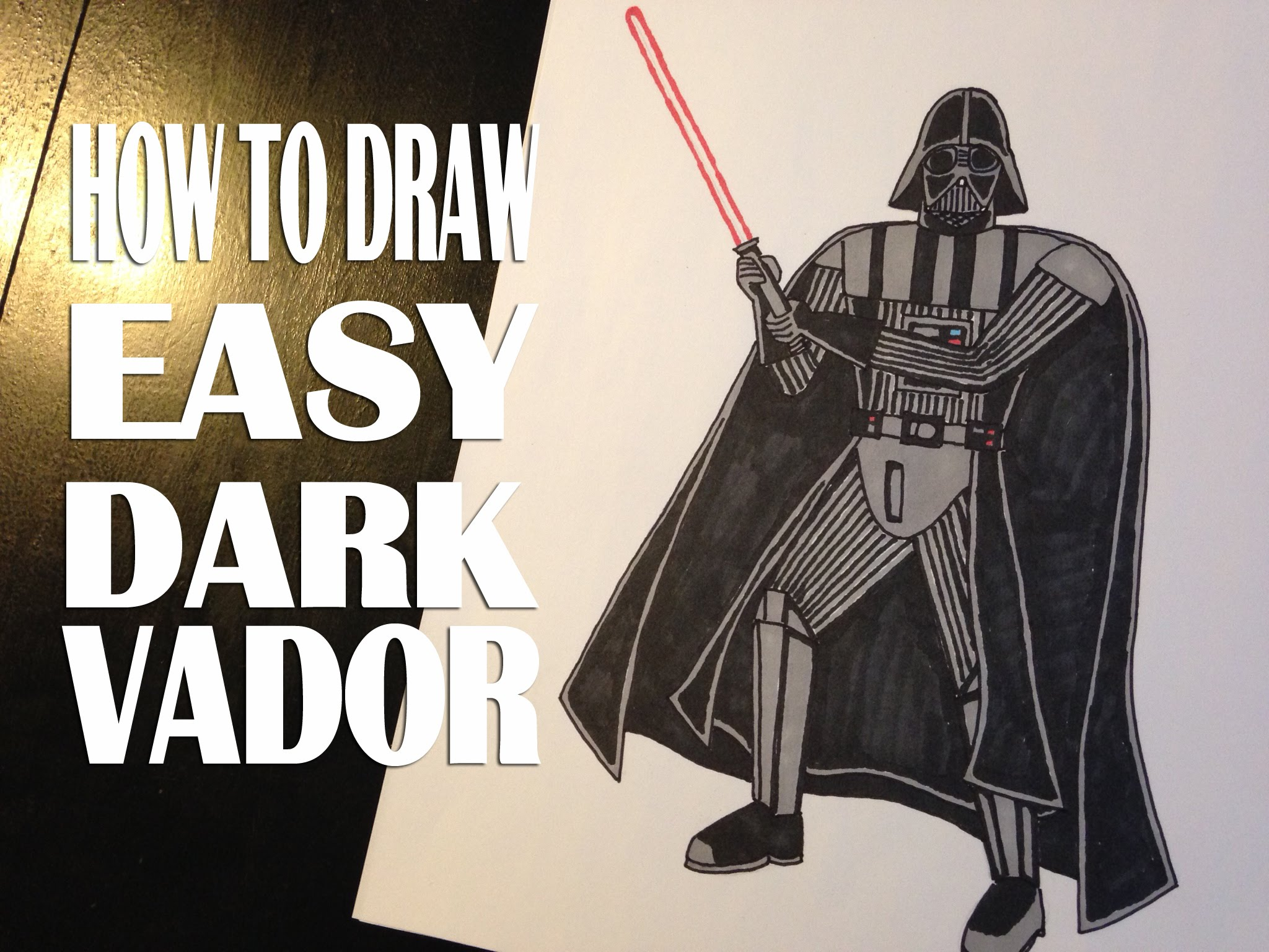Darth vader clipart step by step. Star wars drawing at