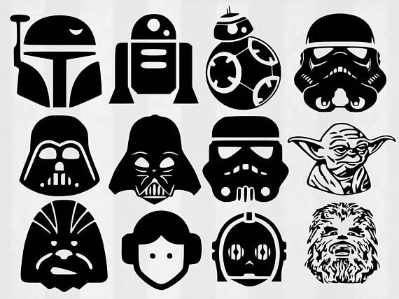 Darth vader clipart svg. Star wars bundle cut