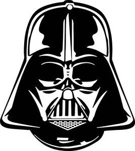 Pin by kizia mizia. Darth vader clipart svg picture black and white download