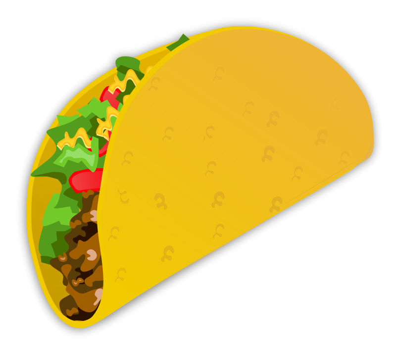 Taco clipart black and white. Burrito darts clip art