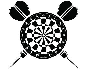 Darts clipart dart tournament. Svg etsy logo dartboard