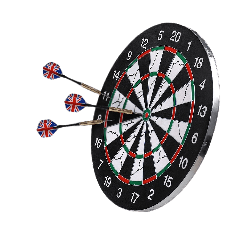 Darts clipart player. Three on a dartsboard
