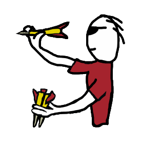 Darts clipart player. Target shooting holds and