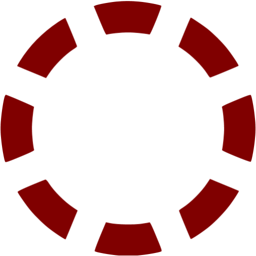Dashed circle png. Maroon icon free shape