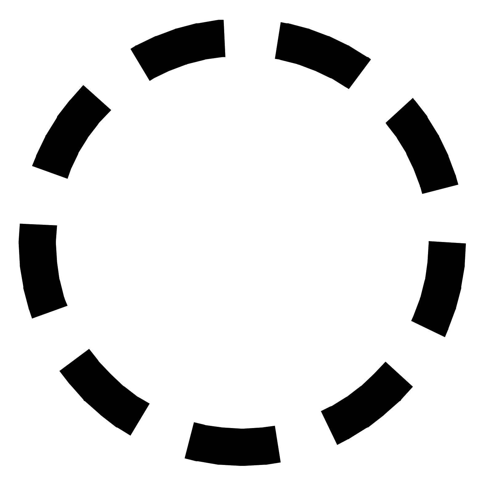 Dashed circle png. Inactive state