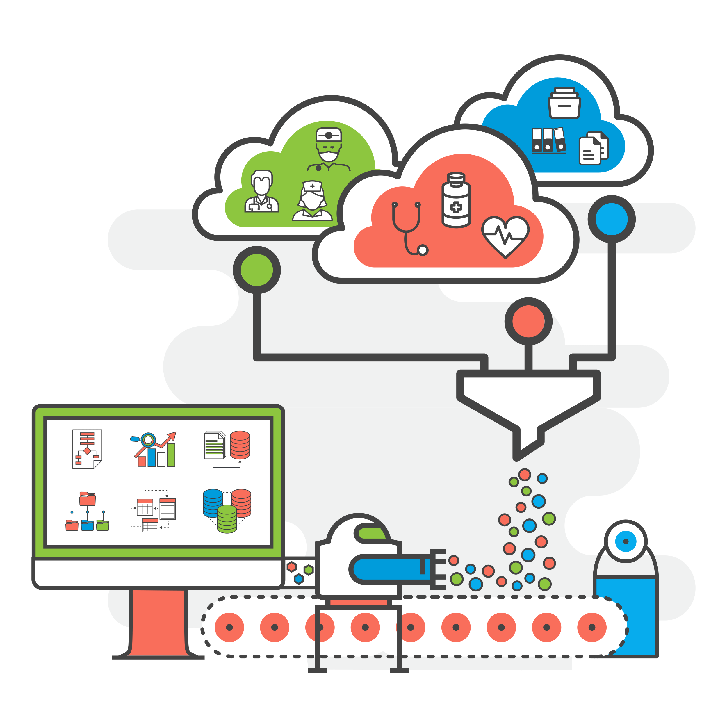 Data clipart data process. Science consulting machine learning