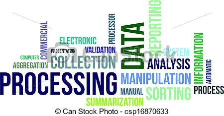 Data clipart data process. Processing